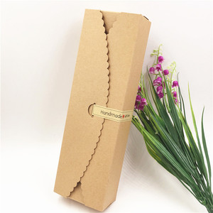 Image 5 - Boîte demballage en papier à bonbons et pain, forme longue 23*7*4cm, 50 pièces/lot, fournitures demballage pour fêtes de mariage, festival