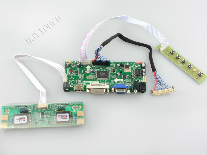 Free Shipping HDMI DVI VGA Audio LCD Controller Board for M201EW02 20.1 inch 1680x1050 4CCFL TFT LCD raspberry pi m nt68676 2a universal hdmi vga dvi audio lcd controller board for 17 1inch 1680x1050 lp171we2 tl03 monitor for raspberry pi