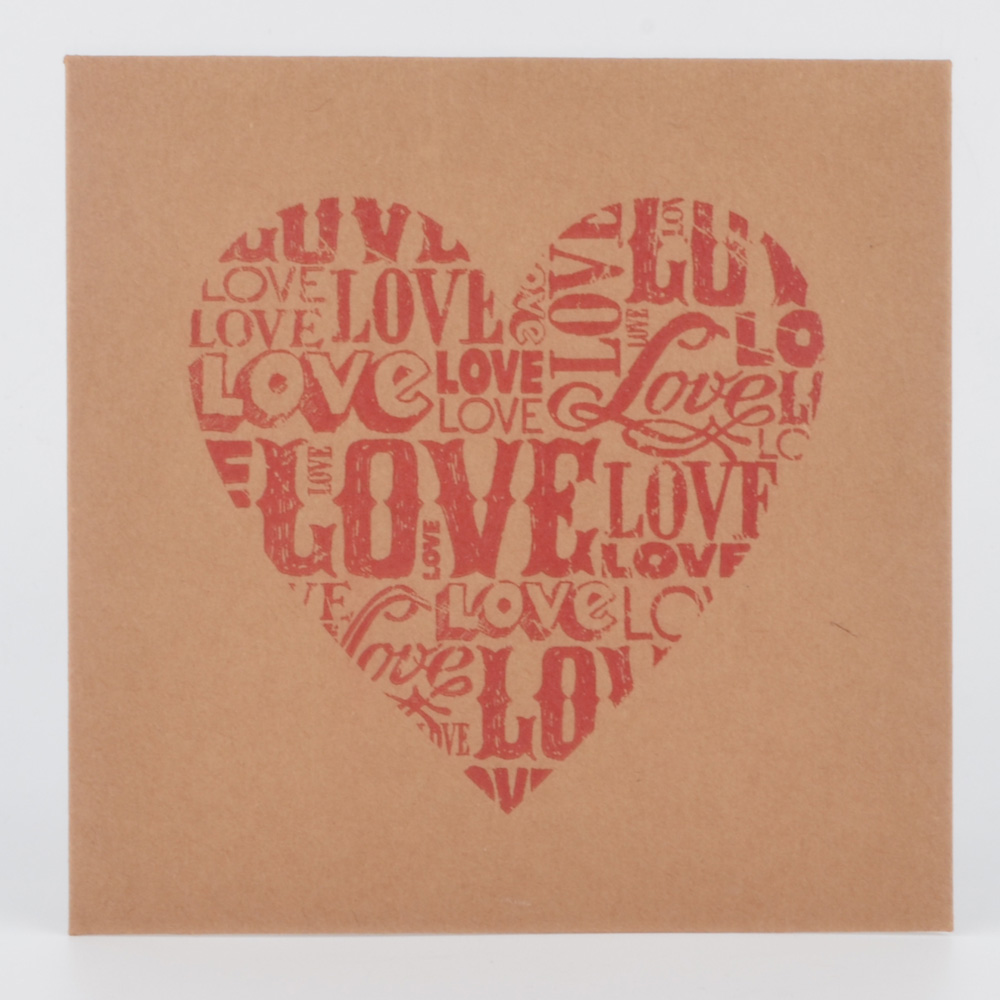 Brown paper with red love Wedding CD bag kraft paper DVD envelope case card box DJ Storage kraft paper cd sleeves free shipping