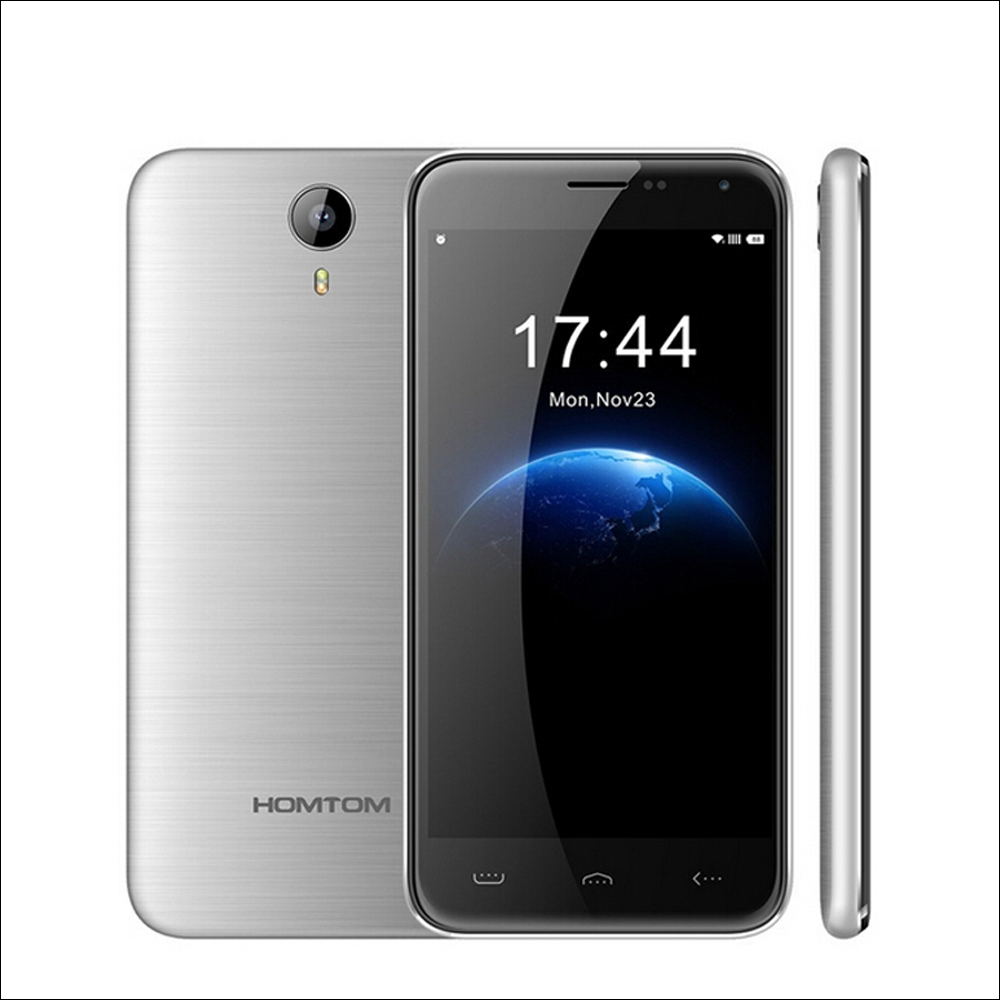 Original homtom ht3 5.0 pulgadas android 5.1 mtk6580 quad core móvil ram 1g rom 8 gb dual sim wcdma smartphone 3000 mah