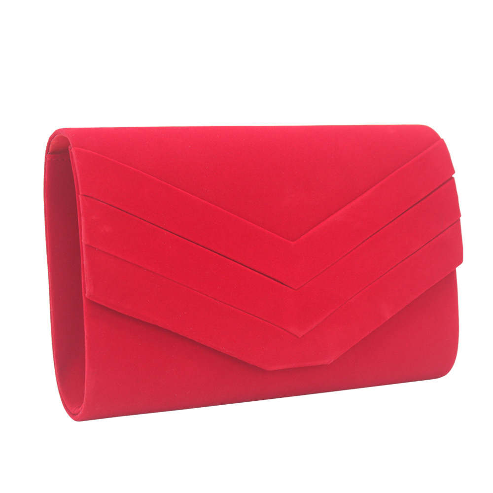 13color Velour Clutch Bag Women Fashion Evening Elegant Envelope Bags Party Wedding Chain Crossbody Bag Small Female Daybag 2019