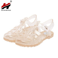 2017 Summer New Fashion Retro Crystal Thick With Transparent Plastic Women Sandals T Roman Sandals Jelly