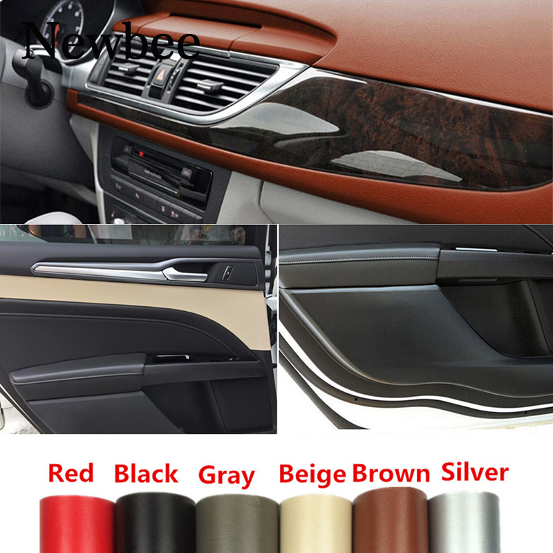 7 Color Grain Leather Pattern Vinyl Film Sticker Car Interior Wrap Sheet Decal