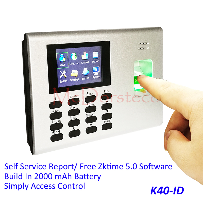 Tcp/ip Build In Battery Biometric Fingerprint Time Attendance Employee Electronic Punch Time Clock Recorder Excel