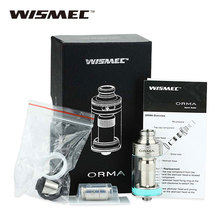Original Wismec ORMA Tank 3.5ml Top Airflow with 0.25ohm DS NC Coil/DS Dual Coil Evaporizer E-cigaretee Vape Tank 22mm Diameter