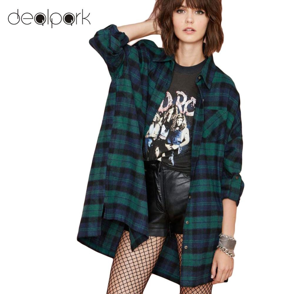 debfcdd2 Plus Size 3XL 4XL 5XL Autumn Tops Plaid Shirts Blouses Women Tartan Shirt  Long Sleeve Baggy Check Blouse Oversized female tunics