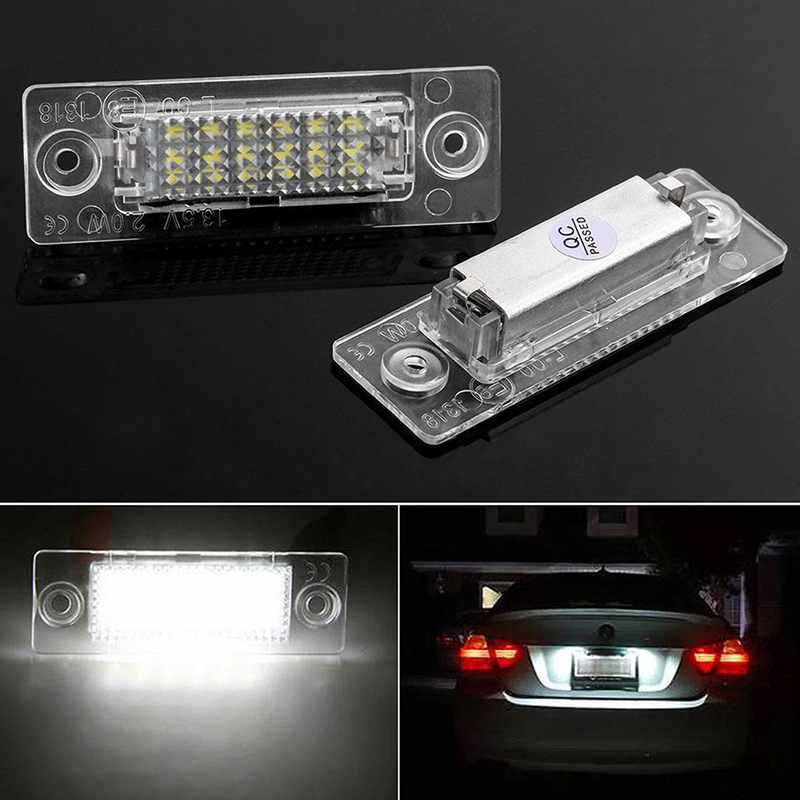 2pcs 18 LED No Error Car Number Light Lamp For VW Golf Jetta Caddy Touran T5  Caddy Passat Cimousint Touran 2pcs lot 18 white led car error license number plate light lamp for vw jetta skoda t5 caddy golf passat car styling