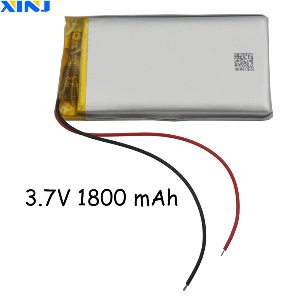 XINJ <font><b>3.7V</b></font> <font><b>1800</b></font> <font><b>mAh</b></font> Li lithium-polymer battery li po cell 703565 For Toys phone GPS E-book PAD Phone LED lighting DIY DVD image