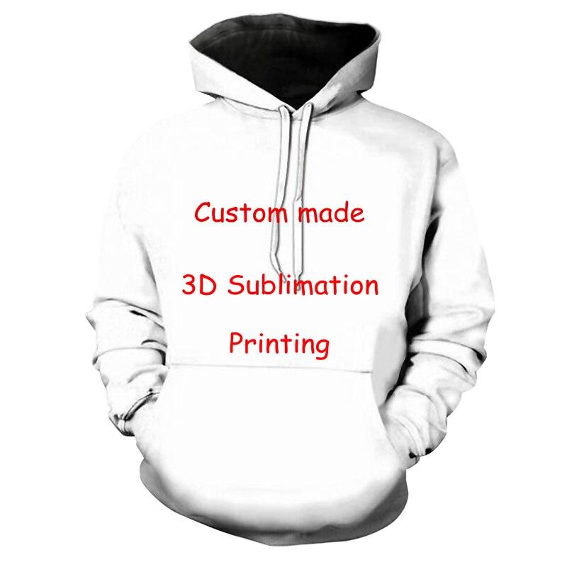 Lo más nuevo crea tu propio diseño de cliente Anime/Photo/Star/You Want/Singer Pattern/DIY hoody 3D impreso sublimación sudaderas