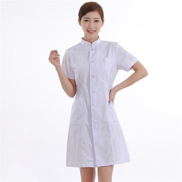 c92916caf8 Novas Mulheres Casacos de Laboratório Médico Médico de Qualidade Uniforme  Da Enfermeira do Hospital de Enfermagem