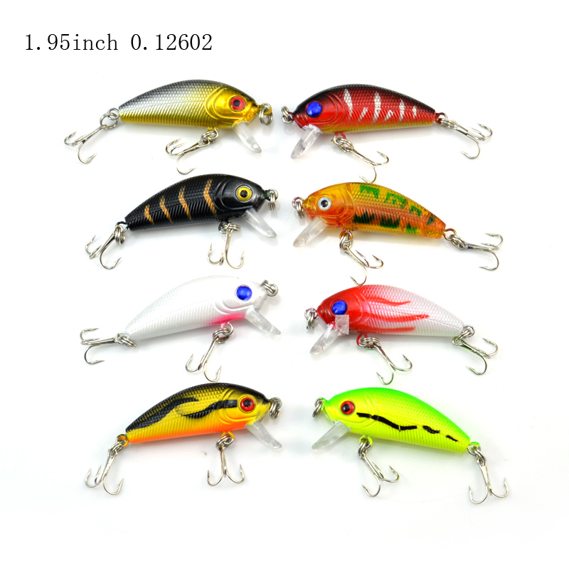 1 Pack 8Pcs 3.6g 5cm Carp Artificial Bait Fishing Lures Wobbler Fish Minnow Bass Lure Crankbait Trout Tackle Hook wldslure 1pc 54g minnow sea fishing crankbait bass hard bait tuna lures wobbler trolling lure treble hook