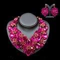Lan palace boutique нигерийские свадебные африканские бусы австрийский хрусталь ожерелье и серьги для свадьбы шесть цветов бесплатная доставка