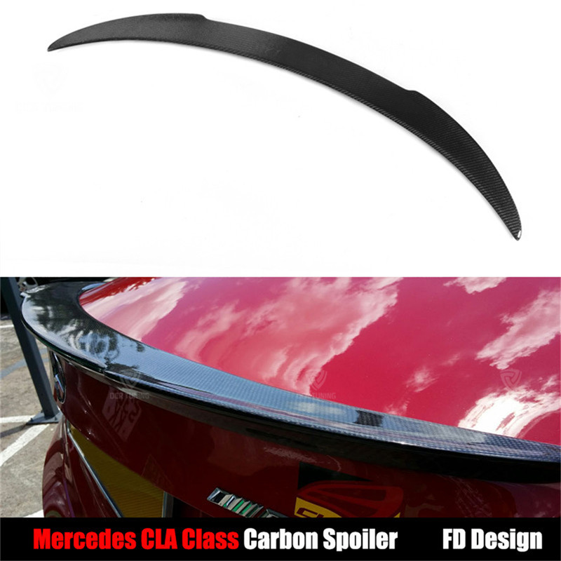 FD Style For Mercedes CLA Class W117 C117 CLA45 Carbon Fiber Rear Trunk Wing Spoiler 2013 - UP CLA180 CLA200 CLA250 CLA260 frp black trunk spoiler boot wing for mercedes benz cla class cla250 cla200 cla180 cla220 cla260 sedan 2013 2014 non amg