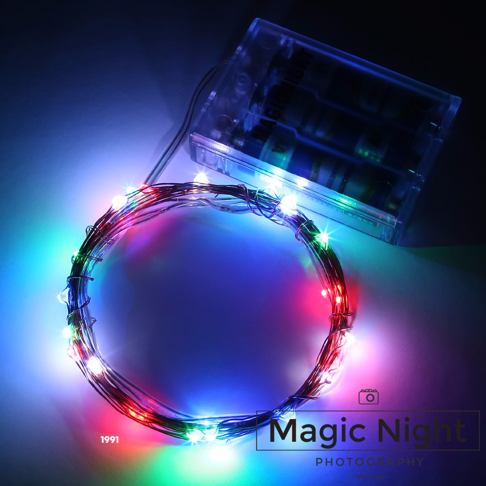 Magicnight 10ft 30 Multi Color Mini Micro LED Starry Lights Submersible Fairy Lights Copper LED Light Strings AA Battery Powered