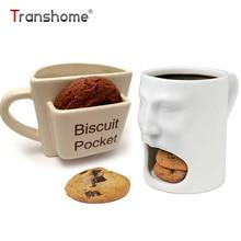 Transhome Kreative Kaffeetasse Mit Keks-tasche Becher Keramik Frühstück Milch Nachmittag Tee Tassen Für Home Office Drink Tassen
