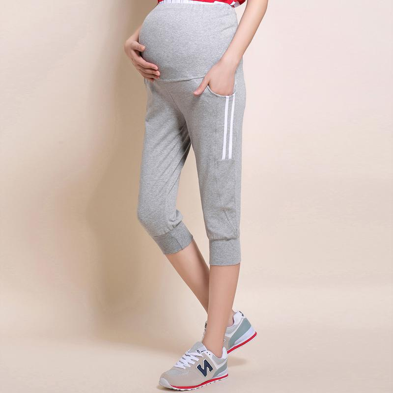 best online new style value for money US $19.8 50% OFF|Maternity short pants summer thin section pants casual  sports loose leggings pregnant women pants clothes For Pregnancy Belly-in  ...