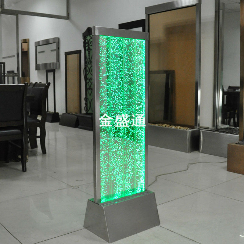 High Quality Stainless Steel & Acryic  Water Bubble Wall  With Color Changeable Light And  Remote Control
