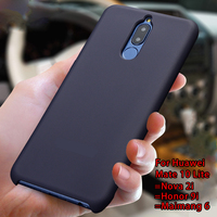 For HUAWEI Mate 10 Lite Case Mate 10 Lite Cover 100 Original Colorful Silicone Soft Cover