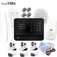 SmartYIBA IOS Andriod APP Управление WI FI GSM сигнализация Поддержка макета камер безопасности дым пожарной сигнализации двери/окно датчики сигнализаци