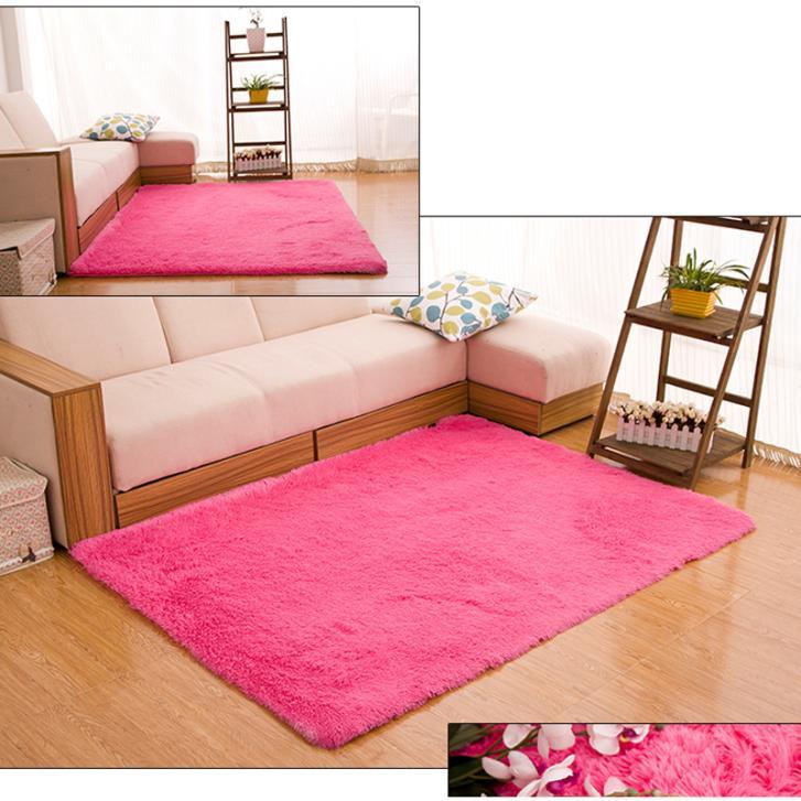 80*120 см большой размер пушистые коврики противоскольжения лохматый коврик столовая ковер спальня коврик домой для дома и сада