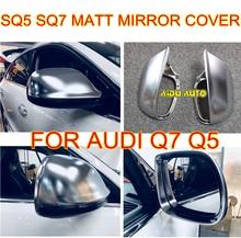 SPORT MATT CHROME SILVER MIRROR CASE REAR VIEW COVER SHELL FOR AUDI Q5 Q7