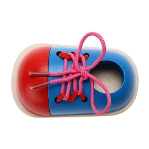 Image 5 - מונטסורי למידה צעצועים חינוכיים לילדים צעצועי עץ לשרוך נעלי Creative משחקי פאזל עץ חידות פופולרי צעצוע
