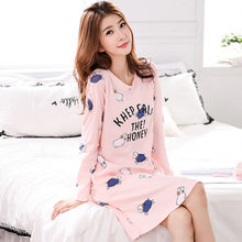 5ee2b46b0d Casual Lingerie Silk Dress O Neck Women Nightgown Night Dress Loose Summer  Sleep Wear(China