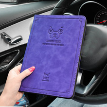 For ipad Mini 1 2 3 Case PU+leather Cute fashion dog pig Shockproof Folio Stand Cover For ipad Mini 4 Magnetic Flip Cover Case mosunx simplestone eiffel tower stand flip leather case cover for ipad mini 1 2 3 retina may30