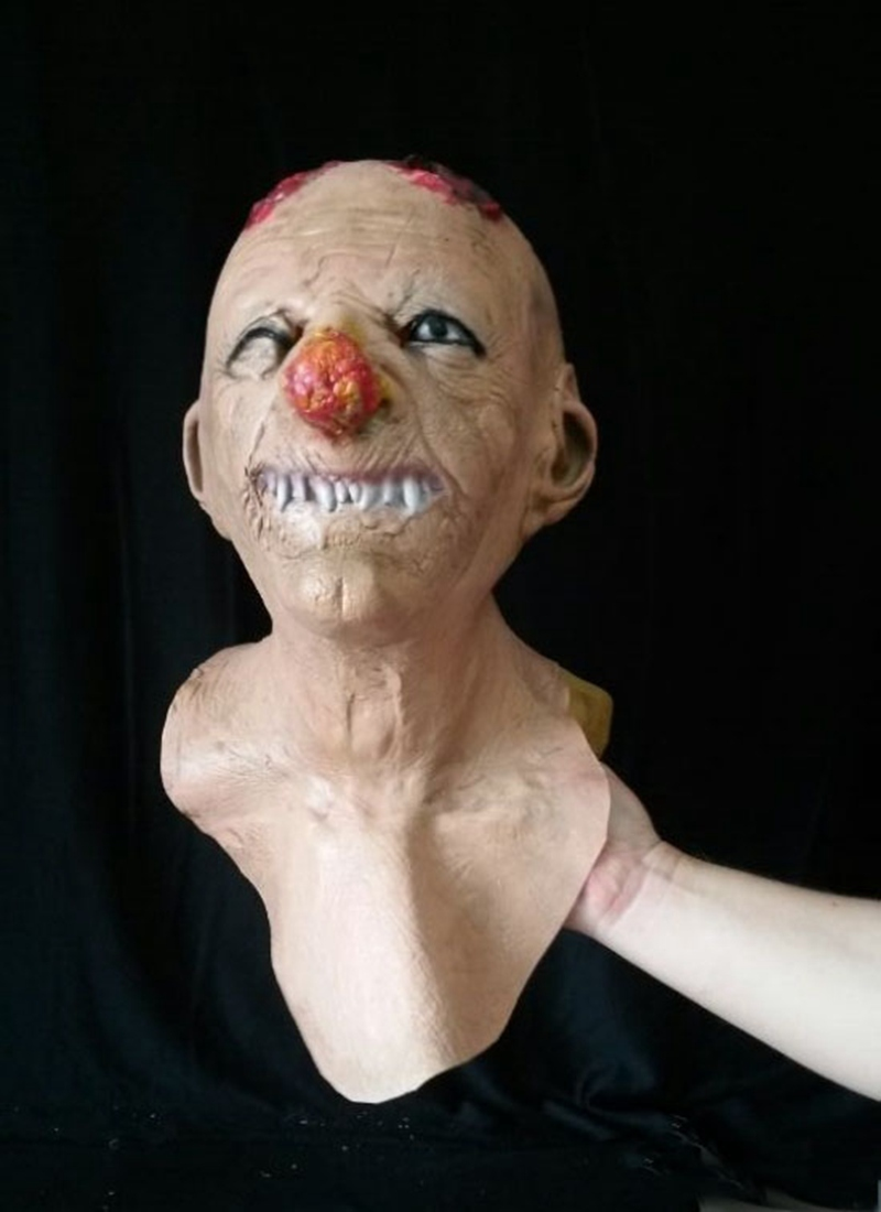 Scared Masks Crazy Killer Party Mask Halloween Face Fool Party Masks Head Latex Creepy Joker Mask