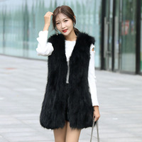 Natural Real Raccoon Fur Vest 2019 Winter Fashion Fur Coat Raccoon Jacket Female Real Raccoon Fox Vest Fur Coats Long