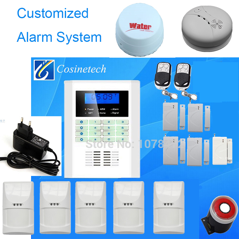 Good quality GSM PSTN alarm system Wireless wired home security Alarm System with pet immune friendly