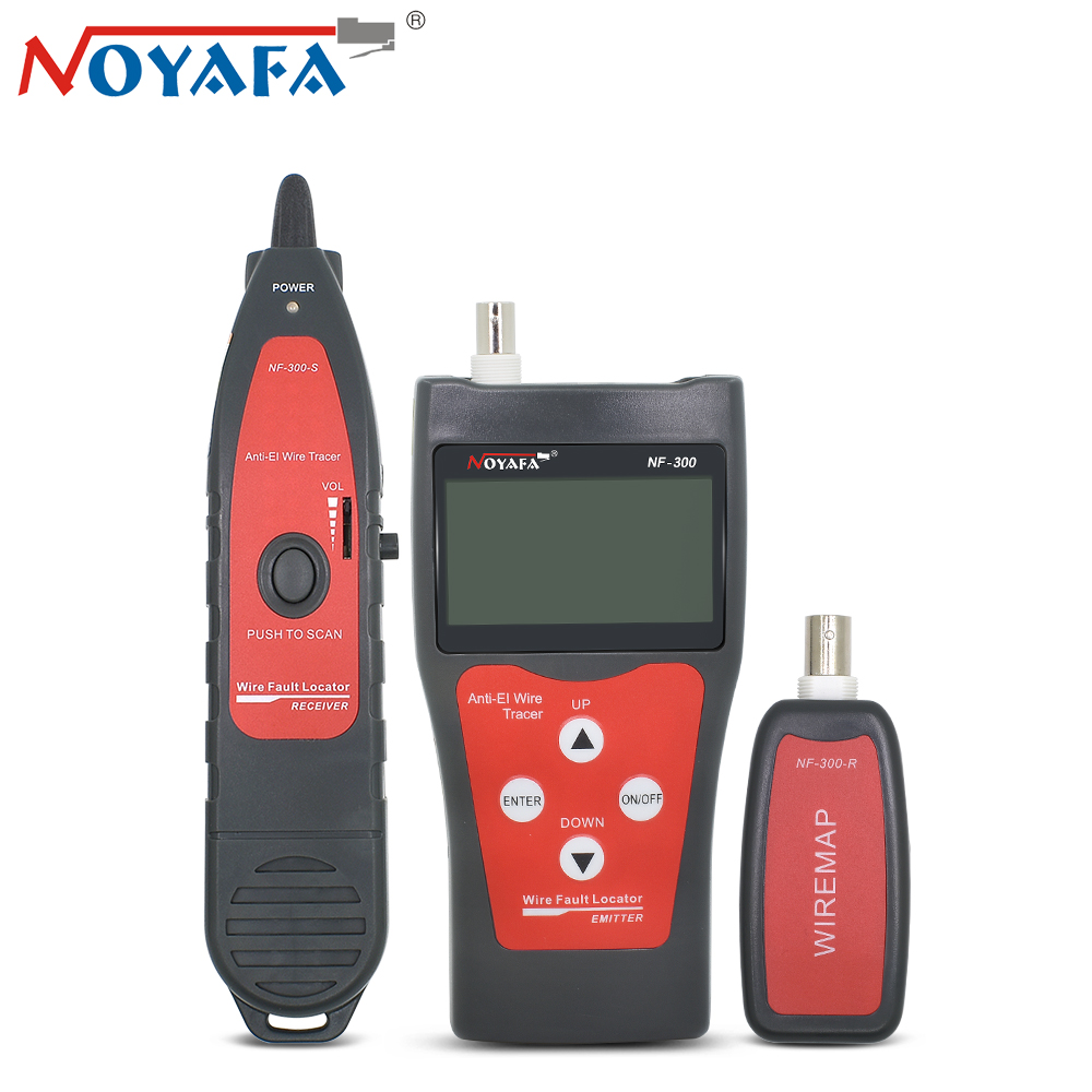 Noyafa NF-300 Cable Tester RJ45 RJ11 BNC USB Telephone Network Lan Wire Tracker Line Tracer Anti-Interference Tone Finder Kit noyafa rj45 rj11 crimper lan network cable amplifier tone generator kit wire sniffer lan tester cable tracker for bnc telephone