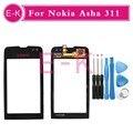 Высокое качество 3.0 ''Для Nokia Asha 311 Touch Screen Digitizer Датчик С Стеклянный Объектив + Бесплатные Инструменты Бесплатная Доставка