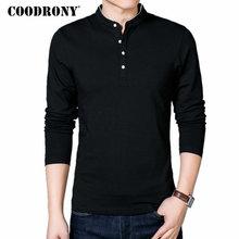 Spring Autumn 100% Cotton Mandarin Collar Long Sleeve Top Tees