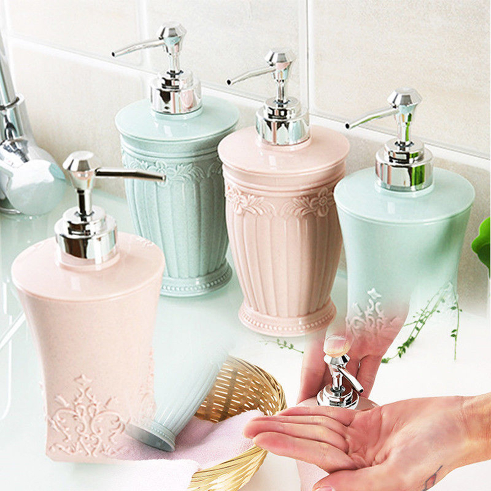 Pressing Lotion Bottle Container Shower Gel Shampoo Hand Sanitizer Parting Bottle Home Bathroom Liquid Soap Dispensers 400ml image