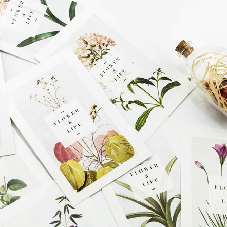 30pcs flower and life go on style card multi-use as Scrapbooking party invitation DIY Decoration gift card message card postcard ...