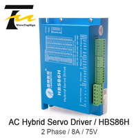 Leadshine HBS86H Voltage 75VAC Current 8A Closed Lloop Servo Motor Driver Hybrid Step Servo Driver CNC Controller