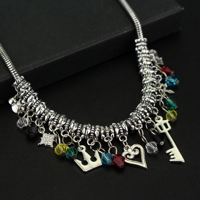 Diy kingdom hearts charm necklaces pendants keyblade heart diy kingdom hearts charm necklaces pendants keyblade heart mountain shape crown fashion accessories with crystal beads in choker necklaces from jewelry aloadofball Choice Image