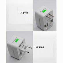 5pcs/lot USB All in one Travel AC Power Adapter US UK AU EU Plug Socket Electrical Universal Converter