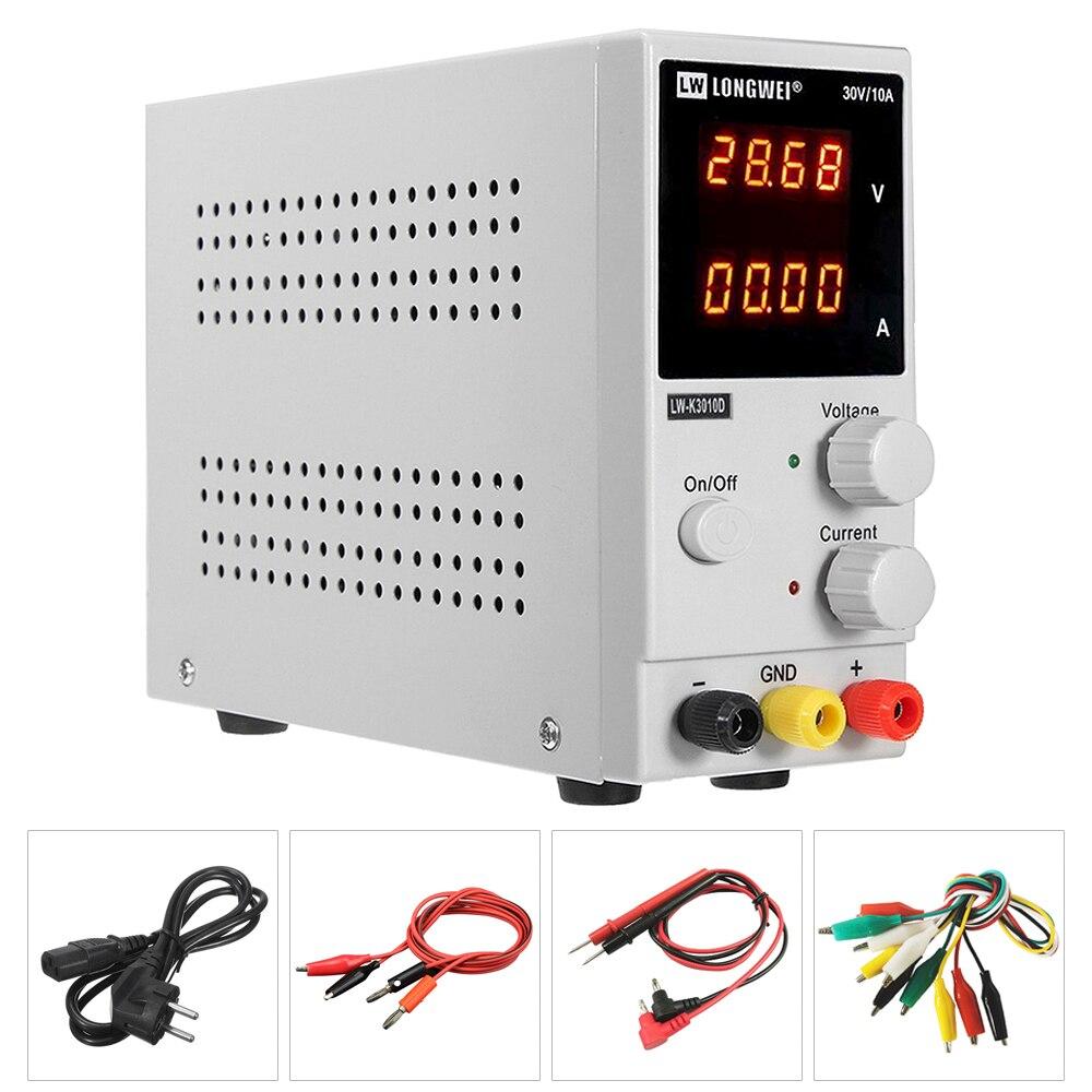 Exposição do Dígito LW-K3010D Nova Atualização 4 30V 10A Regulador de Tensão Ajustável DC fonte de Alimentação fonte De Alimentação de Laboratório de Retrabalho Reparação