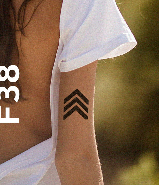 Waterproof Temporary Fake Tattoo Stickers Cool Black Geometric Unique Design Body Art Ma ...