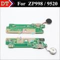 New Mirco USB placa de carga conector de microfone com vibrador motor para ZOPO ZP998 9520 celular frete grátis
