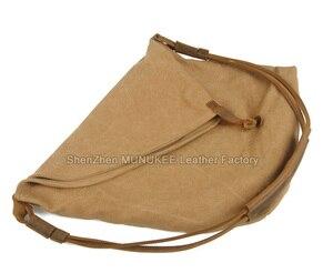 Image 4 - Retro vintage In Pelle Militare Degli Uomini di Tela Sacchetto del Messaggero delle Donne Borse A Spalla Per gli uomini Crossbody Bag di Tela di Cotone Sacchetto di Casual
