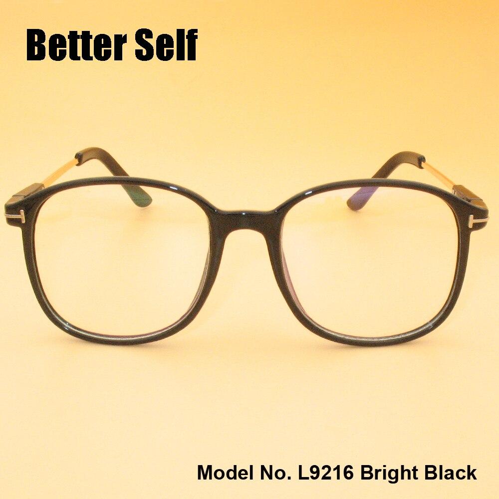 L9216 Brýlové brýle s celoobvodovým rámem PC Brýle s krátkými brýlemi Velké čtvercové brýle