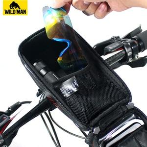 Image 3 - Универсальная Водонепроницаемая велосипедная сумка для телефона, держатель для телефона на руль, тачскрин, аксессуары для Bycicle