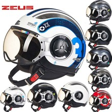 2016 Новый Тайвань ZEUS Половина Лица Мотоциклетный Шлем электрический велосипед мотоцикл шлемы, изготовленные из ABS Four Seasons 218C Мужчины/женщины