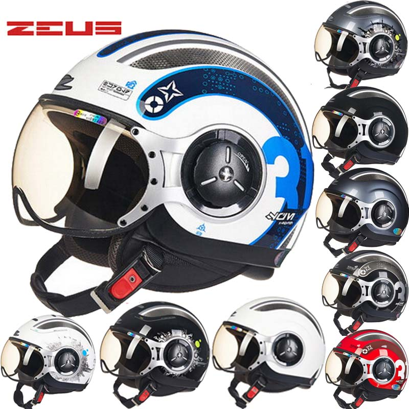 2017 New Taiwan ZEUS Half Face Motorcycle Helmet electric bicycle motorbike helmets made of ABS Four Seasons 218C Men/women masei green air jet helmet pilots flying helmets motorcycle half helmet electric bicycle open face pilot helmet free