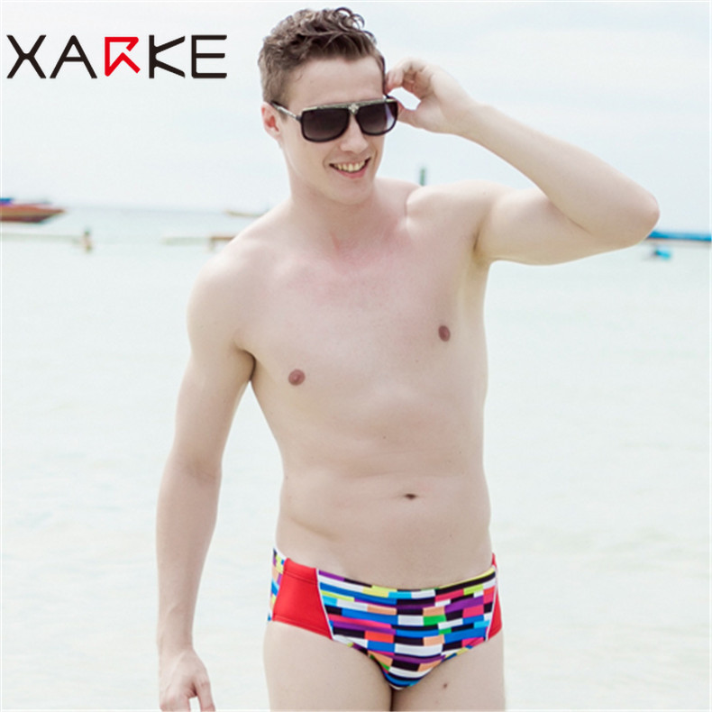 XARKE Professional Competition Briefs Men 39 s Swimming Trunks Fashionable Low Waist Sexy Briefs Swimming Briefs Men 39 s Swim Trunks in Body Suits from Sports amp Entertainment