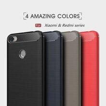 Carbon Fiber Case For Xiaomi Mi A1 A2 Back Cover Soft Silicone Case For Redmi Note5A 4X 4A  Max2 Mix2 Pro Mi6 5s Plus 5c