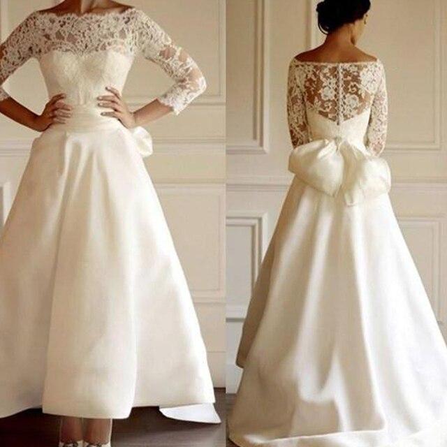 Vintage Arabisch Saudi Brautkleider Spitze Sleeves boot ausschnitt ...